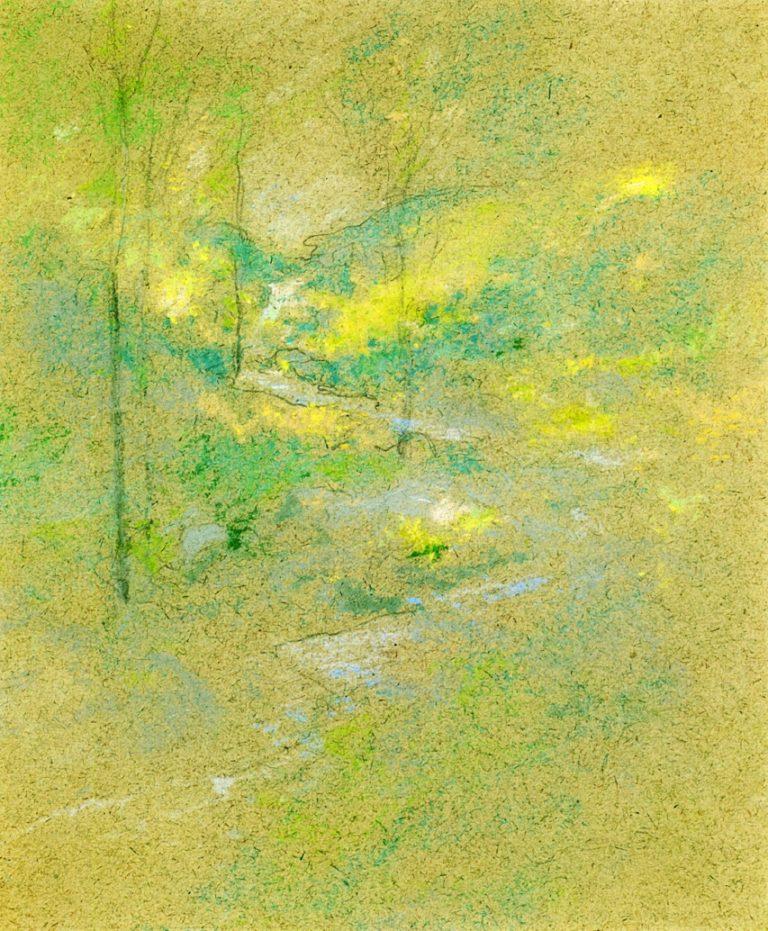 Brook among the Trees | John Twachtman | oil painting