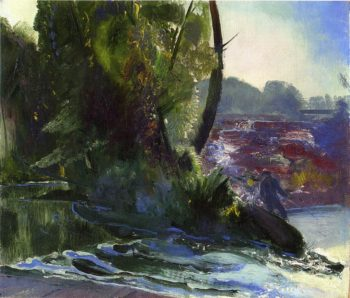 Fisherman and Stream | George Wesley Bellows | oil painting