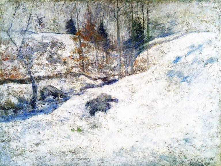 Brook in Winter | John Twachtman | oil painting