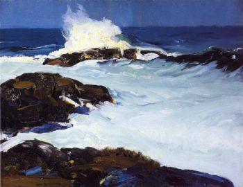 Flaming Breakers | George Wesley Bellows | oil painting