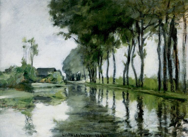 Canal Scene Holland | John Twachtman | oil painting