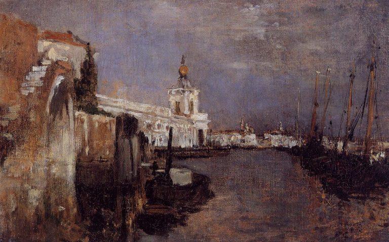 Canal Venice | John Twachtman | oil painting