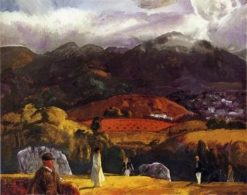 Golf Course California | George Wesley Bellows | oil painting