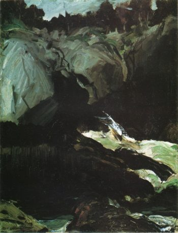 Gorge and Sea | George Wesley Bellows | oil painting
