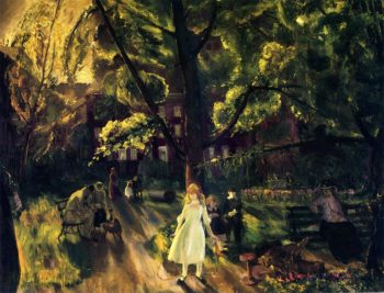 Gramercy Park | George Wesley Bellows | oil painting