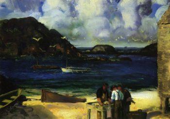 Harbor at Monhegan | George Wesley Bellows | oil painting