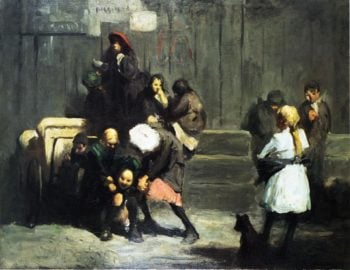 Kids | George Wesley Bellows | oil painting