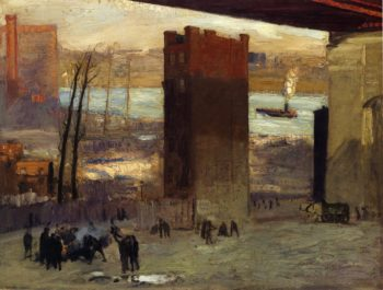 Lone Tenement | George Wesley Bellows | oil painting