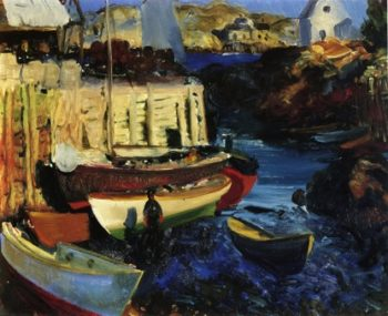 Matinicus Harbor Late Afternoon | George Wesley Bellows | oil painting