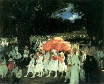 May Day in Central Park | George Wesley Bellows | oil painting