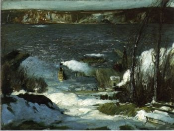 North River | George Wesley Bellows | oil painting