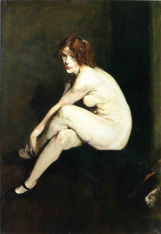 Nude Girl Miss Leslie Hall | George Wesley Bellows | oil painting