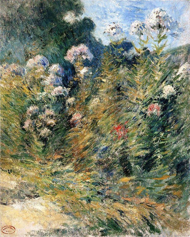 Flower Garden | John Twachtman | oil painting