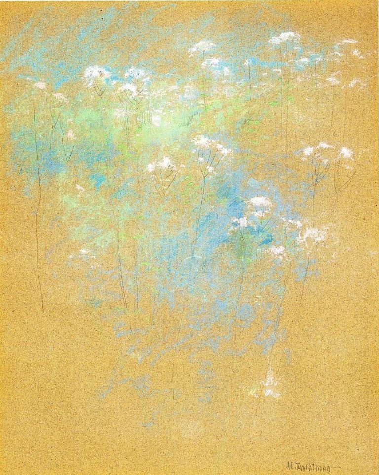 Flowers 1 | John Twachtman | oil painting