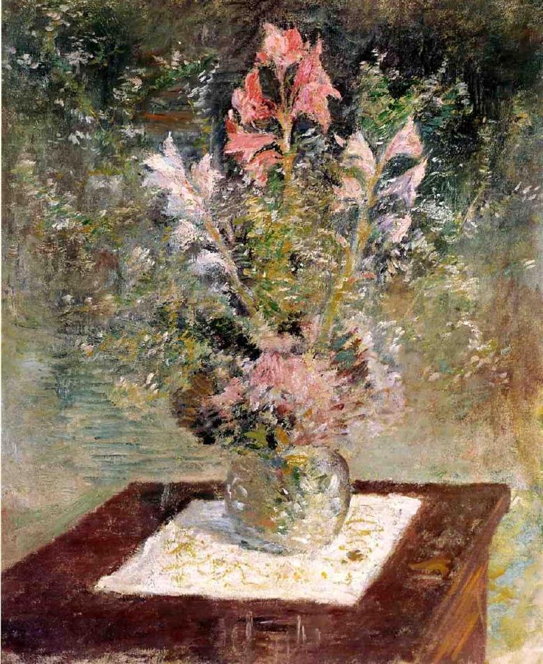 Flowers   John Twachtman   oil painting
