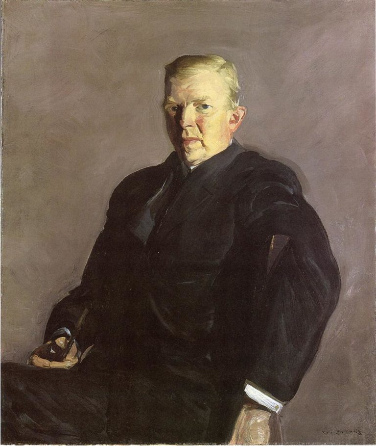 Portrait of Professor Joseph Russell Taylor | George Wesley Bellows | oil painting