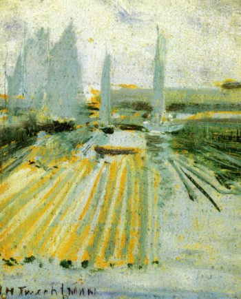 Fog and Small Sailboats | John Twachtman | oil painting