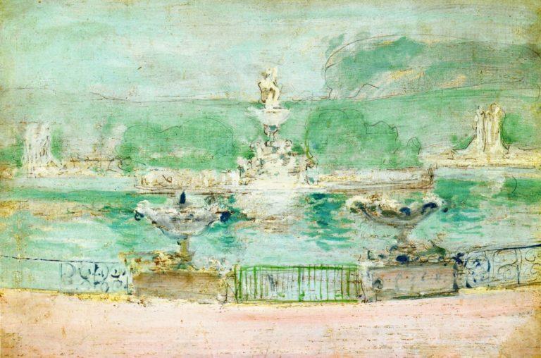 Fountain World's Fair | John Twachtman | oil painting