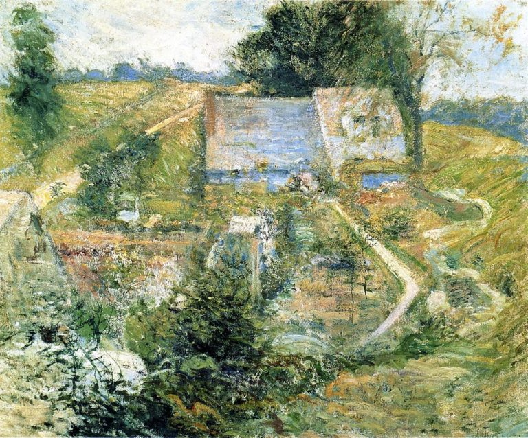 From the Upper Terrace | John Twachtman | oil painting
