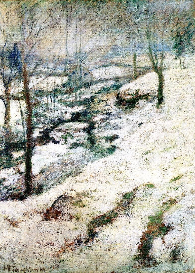Frozen Brook 1 | John Twachtman | oil painting