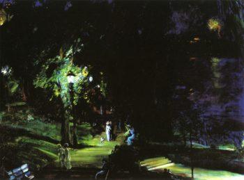 Summer Night Riverside Drive | George Wesley Bellows | oil painting