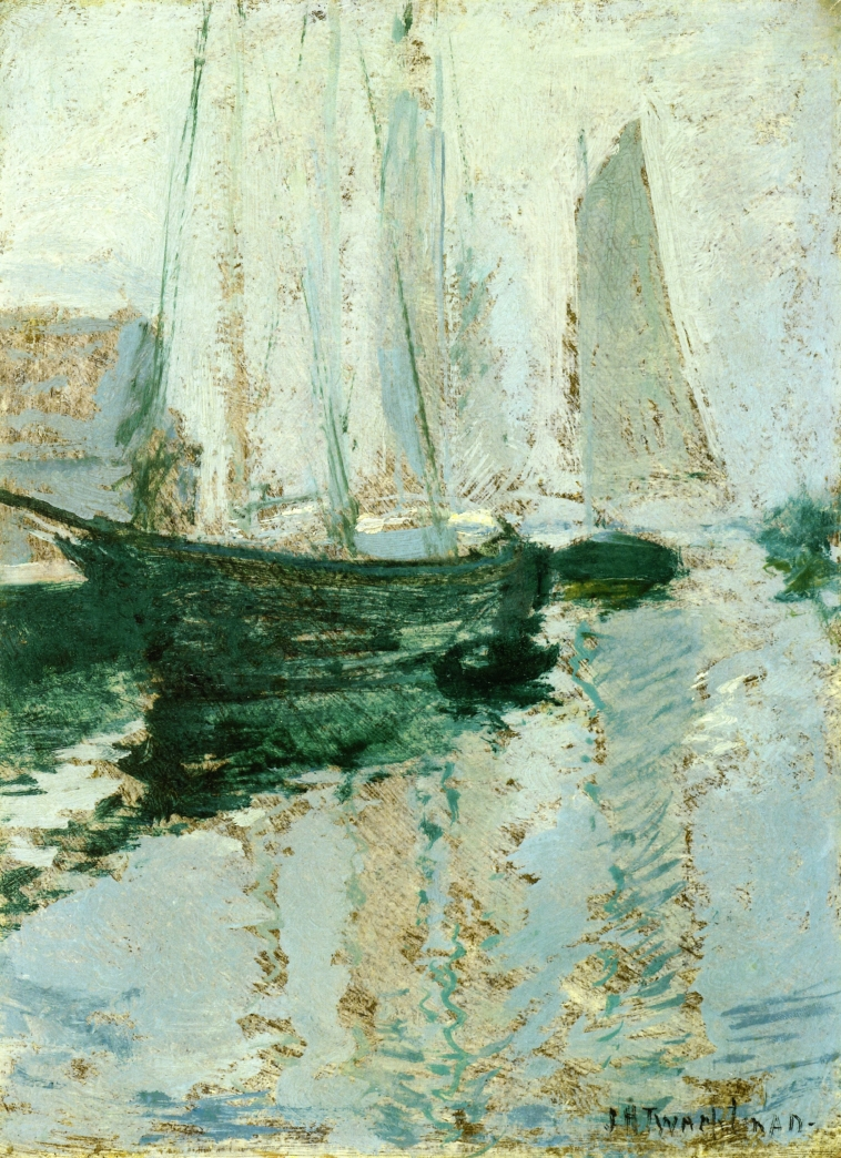 Gloucester Boats | John Twachtman | oil painting
