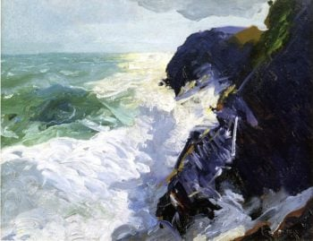 Sun and Spray | George Wesley Bellows | oil painting
