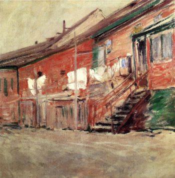 Gloucester Fishermen's Houses | John Twachtman | oil painting