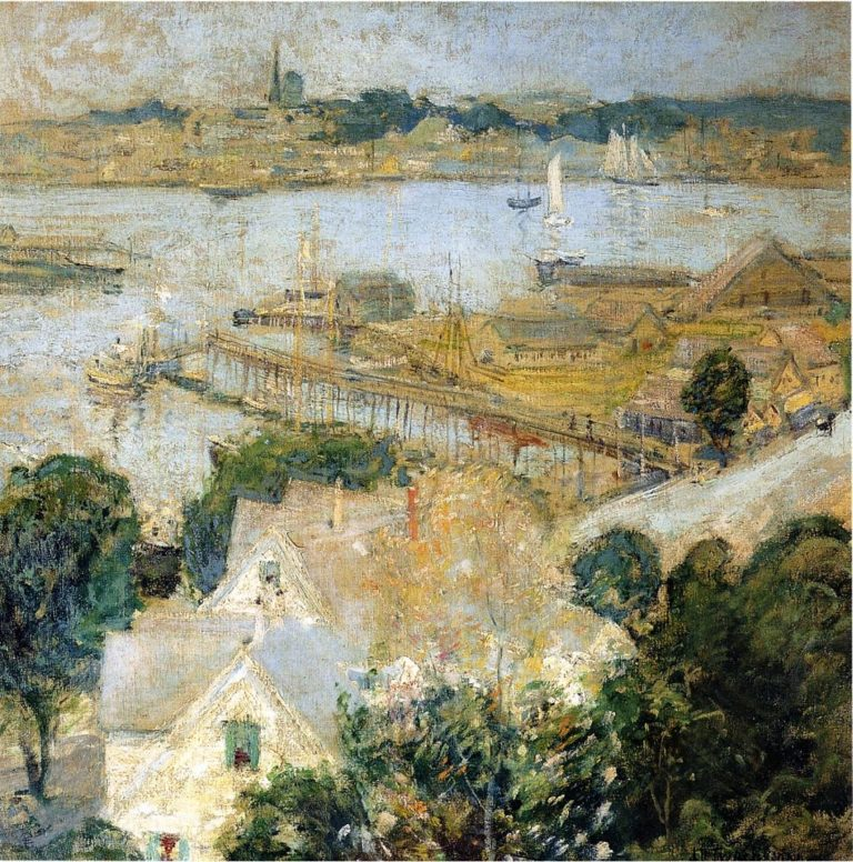 Gloucester Harbor | John Twachtman | oil painting