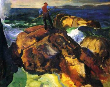 The Fisherman study | George Wesley Bellows | oil painting