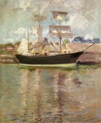 Gloucester Schooner | John Twachtman | oil painting