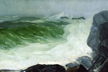 The Grey Sea | George Wesley Bellows | oil painting