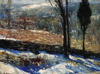 The Stone Fence | George Wesley Bellows | oil painting