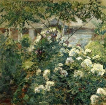 Greenwich Garden | John Twachtman | oil painting