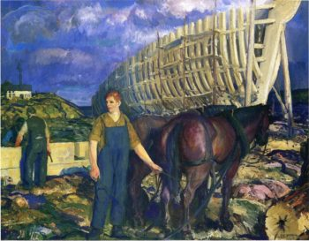 The Teamster | George Wesley Bellows | oil painting