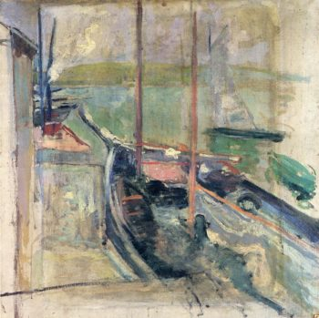 Harbor Scene | John Twachtman | oil painting