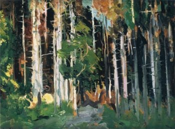 Through the Trees | George Wesley Bellows | oil painting