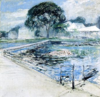 Harbor View Hotel | John Twachtman | oil painting