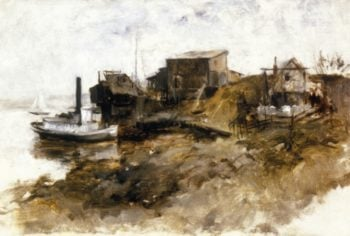 Harbor View | John Twachtman | oil painting