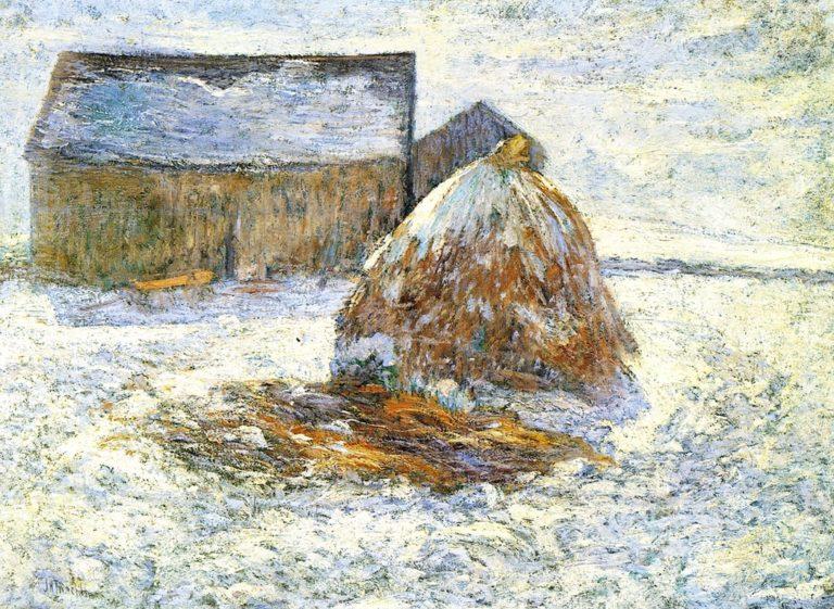 Hayrick | John Twachtman | oil painting
