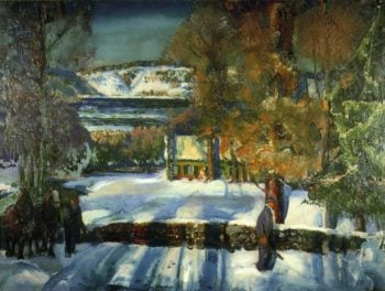 Winter Road | George Wesley Bellows | oil painting