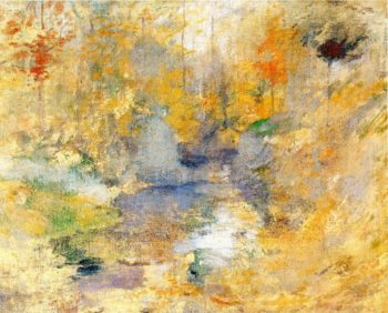 Hemlock Pool | John Twachtman | oil painting