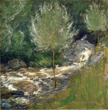 Horseneck Falls Greenwich Connecticut | John Twachtman | oil painting