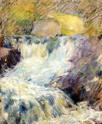 Horseneck Falls | John Twachtman | oil painting