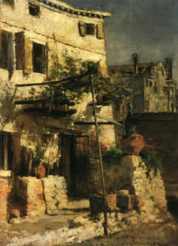 House on a Canal Venice | John Twachtman | oil painting