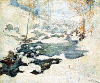 Icebound | John Twachtman | oil painting