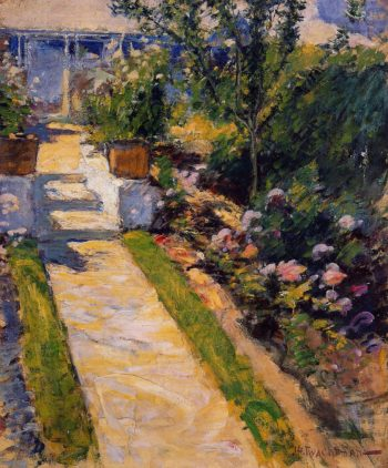 In the Garden | John Twachtman | oil painting