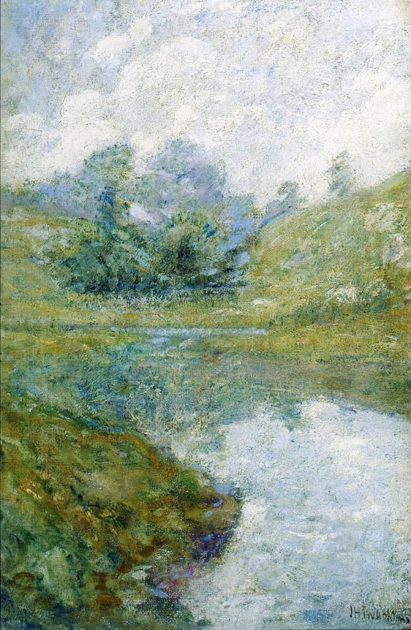 Landscape1   John Twachtman   oil painting