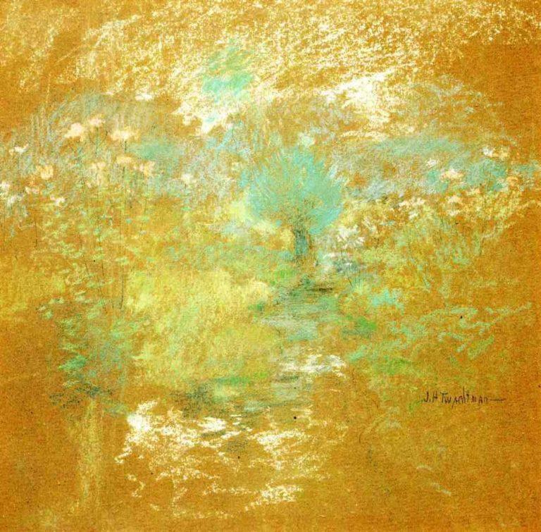 Landscape 1   John Twachtman   oil painting