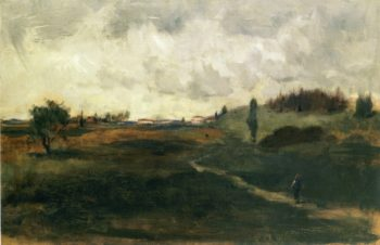 Landscape Tuscany | John Twachtman | oil painting